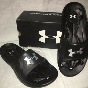 NIB Under Armour Youth Boys Locker lll Slides 6